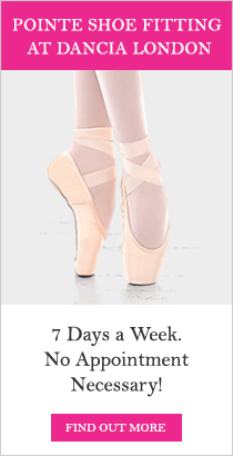 Pointe Shoe Fitting at Dancia London. 7 Days a Week. No Appointment Necessary!