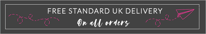 Free standard UK shipping on all orders.